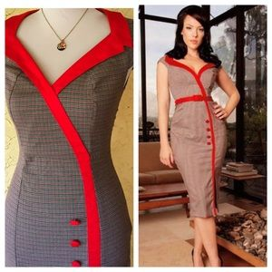 Dixified by Pinup Couture Secretary wiggle dress